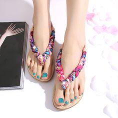 092147b5edc2 Bohemian Style Flat Sandals Girls Sandals