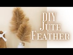 Diy Crafts For Home Decor, Diy Crafts To Sell, Grass Decor, Jute Crafts, Boho Diy, Pampas Grass, Diy Wall Art, Diy Projects To Try, Diy Flowers