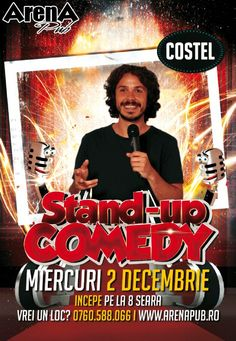 Miercuri, 2 Decembrie 2015, ora 20:00, Arena Pub, Bucuresti Comedy Show, Stand Up Comedy, Movies, Movie Posters, Film Poster, Films, Popcorn Posters, Film Posters, Movie Quotes