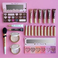 @toofaced crownheartpulse #Spring2016 #Collection L - R: Chocolate Bon Bons, Melted Chocolate Lipstick, Shadow Insurance & Glitter Glue (new packaging! - launching 12/09), La Crème Lipstick shade extensions, Mr. Right Perfect Powder Brush, Candlelight Glow (new packaging and shade extension!) & Love Flush Blush Wardrobe raised_handsskin-tone-3raised_handsskin-tone-3raised_handsskin-tone-3heartpulseheartpulseheartpulse #HEAVEN !!! Available TOMORROW !!!
