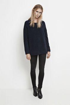 97c1e4e1 Nor o-n long 7355, DARK BLUE MEL. Wool Yarn, Merino Wool, Dark