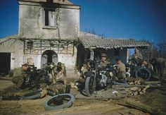 THE CROSSING OF THE GARIGLIANO RIVER BY THE FIFTH ARMY, LAURO, ITALY, 19 JANUARY 1944