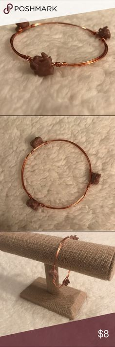 Elephant rose gold bangle Stack this gorgeous, sweet bangle with bigger pieces for a complete look! hand-crafted Jewelry Bracelets