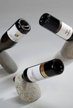 Gravity defying single bottle wine holder handcrafted in the USA. …