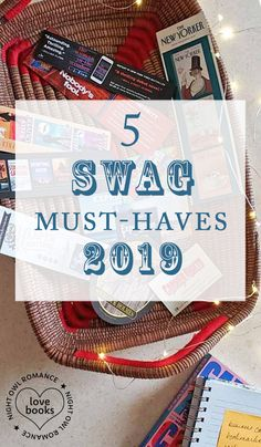 Romance Author University: 5 SWAG Must-Haves for 2019 by Carmen Amato Company Swag, Retreat Gifts, Owl Books, Swag Ideas, Swag Quotes, Romance Authors, Fitness Gifts, Book Launch, Book Signing