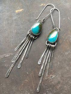 Handmade Drop Dangle Boho Silver Earrings WOVEN SHAPE EARRING Braided Ear Ring Toned Chain Earrings Sterling Silver Drop