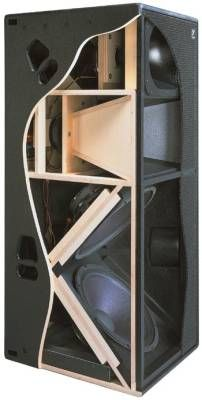Triamp Freestanding Enclosure Source by Subwoofer Box Design, Speaker Box Design, Subwoofer Speaker, Pro Audio Speakers, Sound Speaker, Built In Speakers, Speaker Plans, Recording Studio Design, Audio System