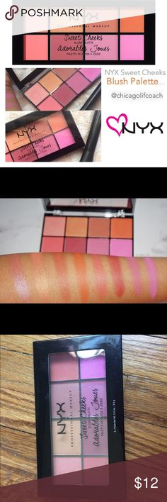 NEW NYX Sweet Cheeks Blush Palette 💜💜💜 Love this Palette! Best drugstore Blush Palette out there! NYX Sweet Cheeks Blush Palette. I put together my favorites packages for my clients, and often have extra products that I sell on here! I price my items lower to accommodate for shipping. I'm open to reasonable offers, especially if you're bundling with other items - you'll pay the same in shipping if you buy one or multiple items from my closet!All the funds go to the non-profit organization…