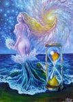 Din valurile vremii pictura in ulei pe panza inspirata din poezia lui Mihai Eminescu