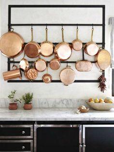 Wall Mounted Pot Rack - Vertical Pot Rack - Utensil Rack - Kitchen Gift - Industrial - Welded Steel
