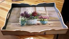 .This pretty tray would be a truly lovely Mother's Day present. If you want to prepare something similar, you could get one of our plain wooden trays and decorate it with decoupage paper. More Mother's Day DIY gift ideas and inspiration at www.craftmill.co.uk