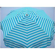 Teal stripe sun umbrella