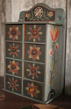 Painted Spice Chest www.rebekahlsmith.com