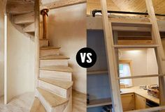 Tiny House Stairs vs Ladders. I'm stairs all the way. My dogs needs are just as important as mine in all this.