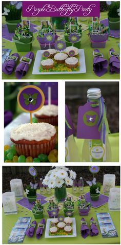 Purple Butterfly Party on http://pizzazzerie.com
