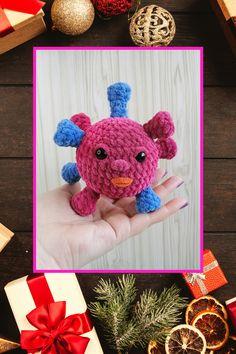 CROCHET PATTERN - virus amigurumi microbe pattern bacteria Simple instructions Plush handmade items Handmade Ideas, Handmade Toys, Easy Crochet Patterns, Free Crochet, Crochet Beanie, Crochet Hats, Virus, Happy Birthday Gifts, Funny Toys