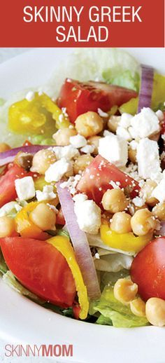 Looking for a great summer salad?  You have to try this skinny greek salad.