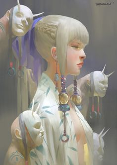 Girl by ZeenChin on DeviantArt