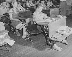 Barefoot Students Vintage School Desk 8x10 Reprint Of Old Photo