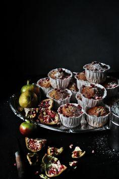Pratos e Travessas: Bolos de romã sem glúten | Gluten free pomegranate cakes | Food, photography and stories