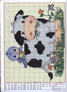 punto cruz vacas - Buscar con Google