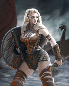 Amazing WTF Facts: High-Ranking Viking Warrior Long Assumed to Be Male Was Actually Female Fantasy Girl, Chica Fantasy, Fantasy Female Warrior, Warrior Girl, Fantasy Armor, Warrior Princess, Fantasy Women, Dark Fantasy, Viking Art