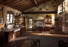 Le cucine in muratura - Atmosfera suggestiva in cucina
