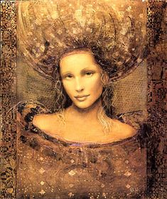 Saw this artist's work for sale on vacation. Online images don't do it proper justice. Csaba Markus - Ladonna.