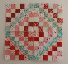 love the fabric placement sew, craft, trip progress, red, block, quilt galor, pink, scrappi trip, aqua