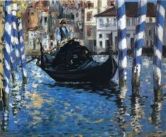 Manet Le Grand Canal,Venise (Venise bleu), 1874. This could definitely be exhibited with Impressionist artists.