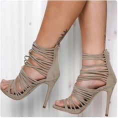 Camel color Lipstik Gabbi Heels Beautiful Lipstik camel colored Gabbi Heels. Brand new and never worn. Strappy shoe with synthetic Suede material. Size 7 shoes but fits more like a size 6 or 6 1/2. ❌ No trades please. Lipstik Shoes Heels