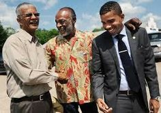 Chokwe Lumumba (left) and Son (right) w/MS State Rep Jim Evans