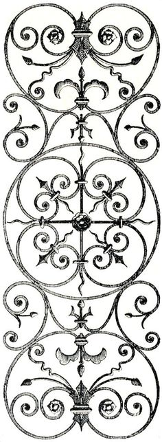 Free Vintage Clip Art | Free Vintage Clip Art - Iron Scrollwork Hardware Catalog - The ...