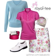 Golf OOTD: featuring the Daily Sport Anita Rose Print Golf Skort and Ruffle Polo #golf4her #fashioncaddy