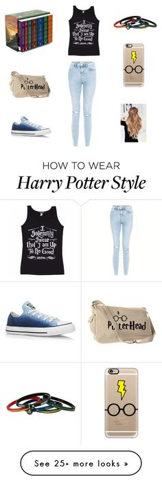 """Harry Potter"" by scarpnz on Polyvore featuring Casetify, New Look and Converse"