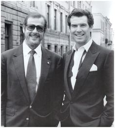 Roger Moore and Pierce Brosnan. Two great 007! http://www.smartbuyglasses.co.uk/i/celebrity-sunglasses-glasses/james-bond-sunglasses-file/