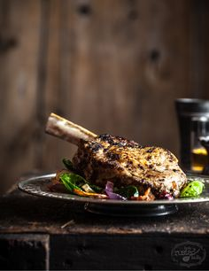 Amazing fall recipe! See our delicious apple and funnel brined pork chop with winter vegetables images and recipe. Food photography by Jena Carlin and Jim Rude.