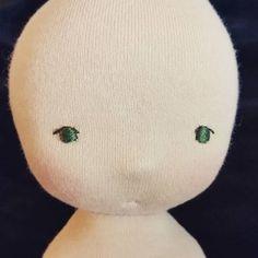 """""""Embroidering eyelashes. #embroidery #dollmaking #octoberrose #handmade"""""""