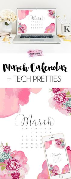 March 2016 Calendar + Tech Pretties | dawnnicoledesigns.com