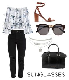 """Untitled #13"" by lesliii ❤ liked on Polyvore featuring Vince, Illesteva and Burberry"
