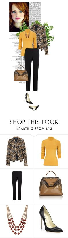 """""""Work Day?"""" by sherry7411 ❤ liked on Polyvore featuring Haider Ackermann, Paul Smith Black Label, Fendi, Lucky Brand and Brian Atwood"""