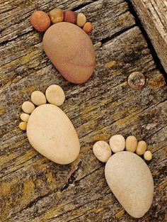 Charming series of  stone footprints by Scottish photographer Iain Blake
