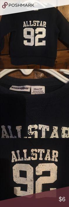 Baby's r us sweat shirt. Navy blue cotton blend sweatshirt. babies r' us Shirts & Tops Sweatshirts & Hoodies