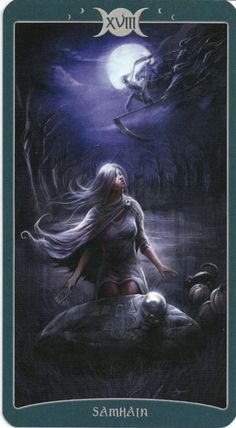 Blessed Samhain from the Book of Shadows Tarot - The Moon