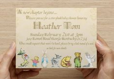storybook baby shower invitation / announcement / party invite
