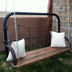 For the twin iron bed. Back screened porch.