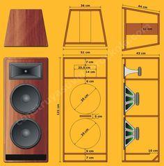 Resultado de imagem para subwoofer box design for 12 inch Diy Subwoofer, Subwoofer Box Design, Speaker Box Design, Hifi Speakers, Audio Amplifier, Audiophile, Bartop Arcade, Speaker Plans, Audio Design
