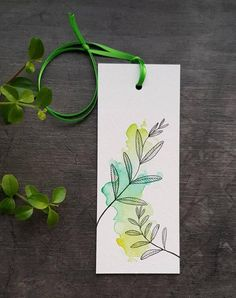 Watercolor Bookmarks, Watercolor Cards, Watercolor Flowers, Watercolor Paintings, Watercolor Journal, Watercolour, Creative Bookmarks, Diy Bookmarks, Doodle Art For Beginners