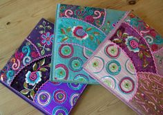 Large Embroidered Notebooks