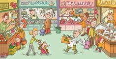 Comic Books, Comics, Children, Cover, Illustration, Art, Teaching French, Young Children, Art Background
